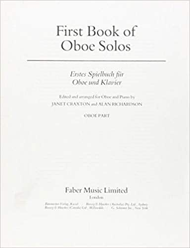 Cover of First Book of Oboe Solos